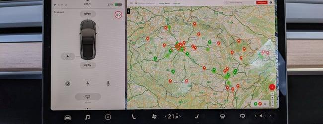 Mapa nabíjení elektromobilů zdarma a nepodmíněné útratou